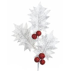 "RAZ Imports - 30"" Mesh Holly Spray"