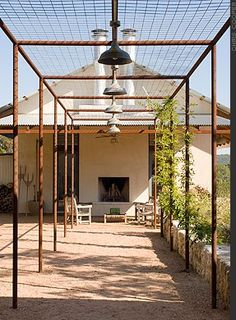 The pergola kits are the easiest and quickest way to build a garden pergola. There are lots of do it yourself pergola kits available to you so that anyone could easily put them together to construct a new structure at their backyard. Diy Pergola, Metal Pergola, Wooden Pergola, Pergola Shade, Pergola Ideas, Patio Ideas, Pergola Roof, Covered Pergola, Patio Roof