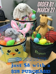 Easter is coming!  Get a super cute and reusable mini storage bin from Thirty-One.  #Easter