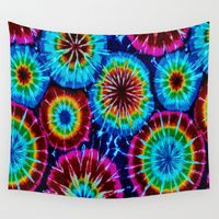 Tie Dye Wall Tapestry by gypsykissphotography - Small: x Diy Tie Dye Tapestry, Tie Dye Painting, Trippy Painting, Tie Dye Party, Patriotic Crafts, Patriotic Party, Tie Dye Designs, Tie Dye Patterns, Button Crafts