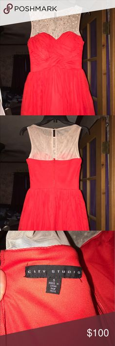 Red prom dress Size 5 red prom or homecoming fits at a size 3/4 new only worse once! Very pretty Dresses Prom