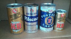 4 Australian Beer Cans, 24, 12 oz, Collection, Man Cave,