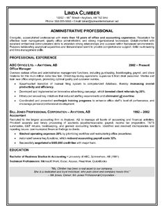 37 Best ADMINISTRATIVE ASSISTANT RESUME Images