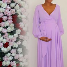 Lavender Maternity Dress, Maternity Dresses For Baby Shower, Maternity Gowns, Maternity Style, Maternity Fashion, Pregnancy Dress, Pregnancy Style, Pregnancy Photos, Maternity Occasion Wear