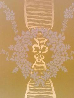 Behang, oude groen met goud (niet meer leverbaar)