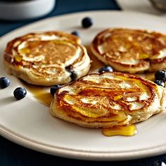 American Pancakes with Blueberries and Maple Syrup - from Lakeland