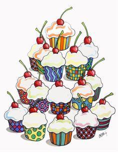 Torre de cupcakes !