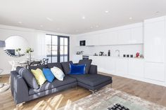Living Room and kitchen, residential development in  Neckinger Mills, London