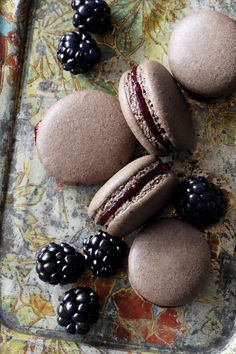 Chocolate Blackberry Macaron Recipe - perfect for gift giving!