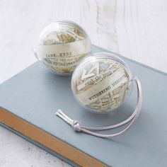 set of two literary christmas decorations by mr teacup | notonthehighstreet.com
