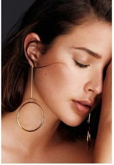 Design Style :This is hollow circle bar dangle earrings,the circle symbolizes th. Design Style :This is hollow circle bar dangle earrings,the circle symbolizes that you are very hap Silver Hoops, Women's Earrings, Sterling Silver Earrings, Circle Bar, Simple Geometric Designs, Circle Earrings, Designer Earrings, Beautiful Outfits, Dangles