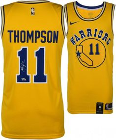 d5c548a3e Klay Thompson Golden State Warriors Autographed Gold Nike Hardwood Classic Swingman  Jersey