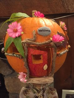 My fairy house pumpkin :)