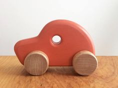 Wooden car classic looking kids toy