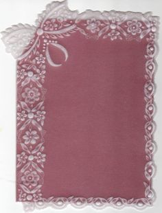 Lace -  Parchment Craft Magazine - Christmas Projects 2010 by Maria Maidment