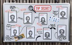 Spy or Secret Agent Party Decorations - Suspect Cards - Top Secret - Birthday Party Theme - INSTANT DOWNLOAD via www.SIMONEmadeit.com