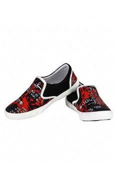 Red and Black Sneakers For Men