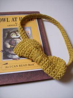 Medium Bow HeadbandMustard by OwlsNestCrochet on Etsy, $7.50