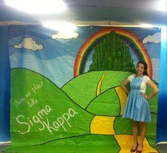 Beta Zeta Wizard of Oz themed Skit Backdrop for UMD Recruitment