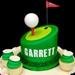 Golf Tee Cake Topper with Cupcakes