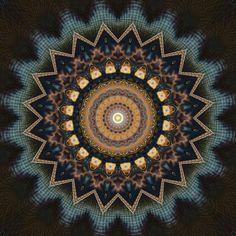 Christine Bässler: Mandala kosmisches Bewusstsein - Bild auf Alu-Verbundplatte