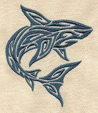 Tribal Shark design (UT5021) from UrbanThreads.com