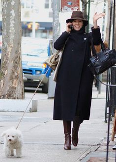 Gracie knows how to stroll down a Manhattan sidewalk with the same panache as owner Parker Posey   #celebrities #dogs http://www.petrashop.com/