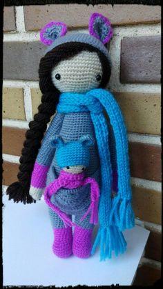 Kira the Kangaroo made by Maria E. /  crochet pattern by Lalylala