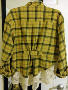 I really love the back on this one; great feminine details on a cozy flannel.