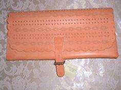 AMERICAN EAGLE Peach Faux Leather Clutch Purse Handbag NEW #AmericanEagle…