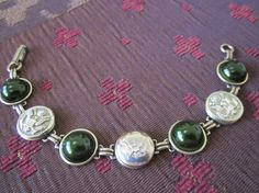 Antique Army uniform button bracelet. Show support for your favorite soldier.  Army, USMA West Point