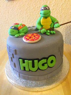 Cocinando dulce y salado: #Tarta #tortugas #ninja #cake #fondant #teenage #mutant #ninja #turtles