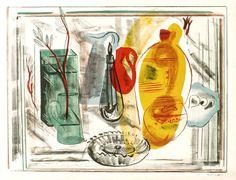 Frances Hodgkins Still Life - An arrangement of Jugs 1938 lithograph