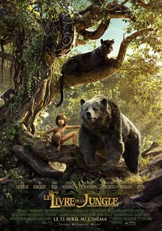 """Saturday, I watched Disney's film """"The Jungle Book"""" in an IMAX Dome Theater! The movie was adapted from Rudyard Kipling's novel """"The Jungle Book"""" and Disney's previous cartoon of the… The Jungle Book, Jungle Book 2016, Batman Vs, Mogli Jungle Book, Live Action, Action Film, Action Movies, Hd Movies, Disney Films"""