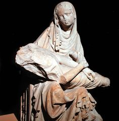 Ca. 1400, Cistercian or Bohemian-Austrian workshop, Pieta, Evangelical Church of Sibiu / probably initially belonging to the Cistercian Monastery of Cârţa (grit stone sculpture, 92 x 67 x 42 cm, socle 56 x 47 cm), Brukenthal Museum, Sibiu