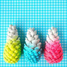 Pine cones DIY in the making. @hipaholic on Instagram
