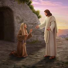 ¡Oh María no me toques aun no subo con mi Padre Aba Jesus Christ Painting, Jesus Art, God Jesus, Pictures Of Jesus Christ, Bible Pictures, Christian Images, Christian Art, Mary Magdalene And Jesus, Jesus E Maria