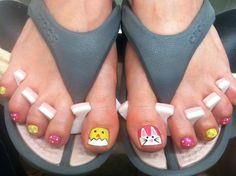 5 toe nails for easter i found on pinterest easter easter nails easter bunny and chick nails easter nail art easter nail designs 2014 prinsesfo Image collections