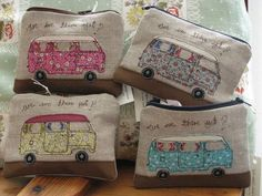 Purses - Dear Emma Handmade Designs Cool for the Navigation stuff Freehand Machine Embroidery, Free Motion Embroidery, Free Machine Embroidery, Free Motion Quilting, Embroidery Applique, Sewing Crafts, Sewing Projects, Pouch Bag, Pouches