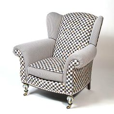 Underpinnings Classic Wing Chair - $3,975...to BUY, perchance to dream...ay, there's the rub...