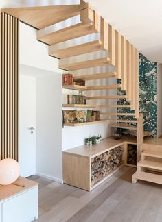 Ôde to nature – MARION LANOE, Interior Designer and Decorator, Lyon Source by lecornecarmelle Modern Staircase, Staircase Design, Room Partition Designs, Floating Stairs, Interior Decorating, Interior Design, Handmade Home Decor, Basement Remodeling, Small Spaces