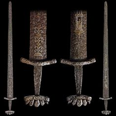 Viking sword with beautiful decorations. The extreme nature of the ornamentation…