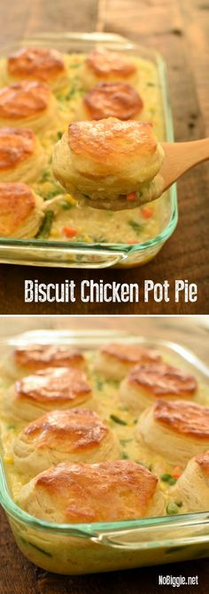 Biscuit Chicken Pot Pie semi-homemade hack with grand biscuits. With - Biscuit Chicken Pot Pie semi-homemade hack with grand biscuits. With Biscuit Chicken Pot Pie semi-h - Cream Of Chicken Soup, Chicken Pot Pie Recipe With Biscuits, Chicken Pot Pie Casserole, Recipe Chicken, Biscuit Pot Pie, Chicken Pot Pies, Casserole Dishes, Healthy Chicken Pot Pie, Chicken Salad