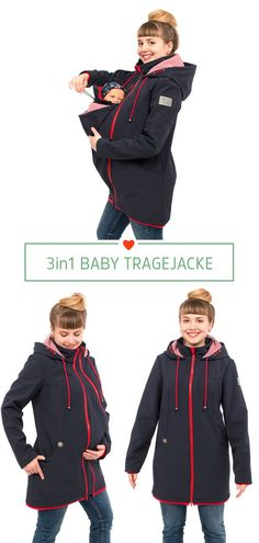 Mama Baby, Softshell, 3 In 1 Jacke, Baby Wearing, Mantel, Movies, Pregnancy, Chic, Jackets