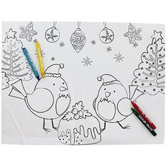Colour Your Own Christmas Placemats