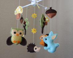 Baby Mobile Baby Crib Mobile Nursery Giraffe by dropsofcolorshop
