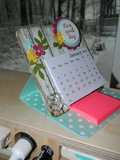 Hi Everyone! Here's my Video Tutorial on how to make the Mini Calendar Easel Card. Perfect for teacher gifts, co-workers and don't forget to make one for myself! Check my post here for a FREE 2016 Mini Calendar PDF you can use as well as written instructions. I also have a link where I got the 4x4 coaster board. The supply list looks daunting, but you can sub out anything with your favorite Designer Paper and cardstock combo pack! Most is what I would consider basic adhesives and tool...