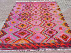 Anatolian Turkish Antalya Barak Kilim Rug Carpet 74 4 x 106 2   eBay