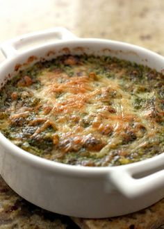 creamy spinach artichoke dip - with parmesan and mayo. Use a blender to adjust texture