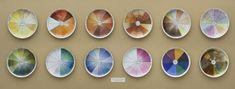 Judy Chicago (American, born 1939). China-painting Color Test Plates from The Dinner Party